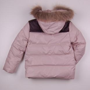 Фото: Зимняя куртка бежевого цвета (артикул O 10267-beige) - изображение 4