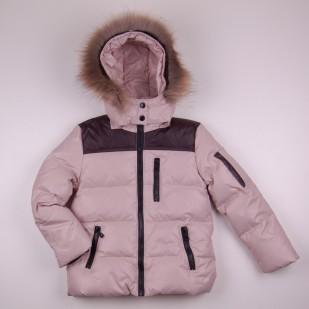 Фото: Зимняя куртка бежевого цвета (артикул O 10267-beige) - изображение 3