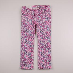 Фото: Цветные детские джинсы с принтом (артикул O 60115-pink flowers) - изображение 3