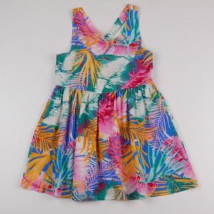 Фото: Цветное платье с бантом на спине (артикул O 50306-green) - изображение 3