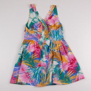 Фото: Цветное платье с бантом на спине (артикул O 50306-green) - изображение 4