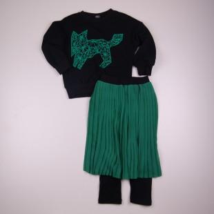 Фото: Стильный костюм для девочки Zara (артикул Z 50190-green) - изображение 3