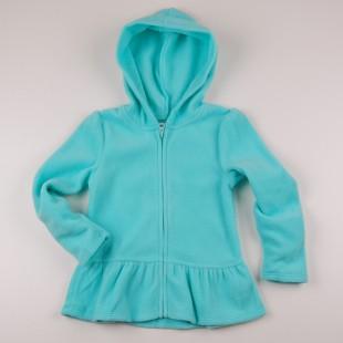 Фото: Толстовка для девочки бирюзового цвета (артикул O 20122-azure) - изображение 3