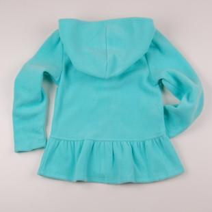 Фото: Толстовка для девочки бирюзового цвета (артикул O 20122-azure) - изображение 4