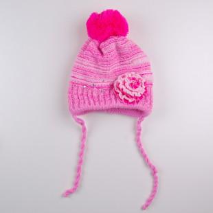 . Шапка и шарф розового цвета