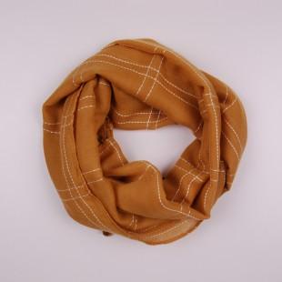 . Детский шарф горчичного цвета