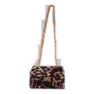 Сумочка леопардовая на цепочке