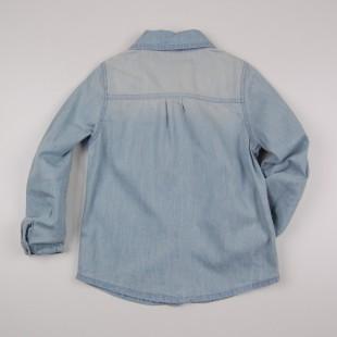 Фото: Джинсовая рубашка с вышивкой (артикул O 30147-jeans) - изображение 4