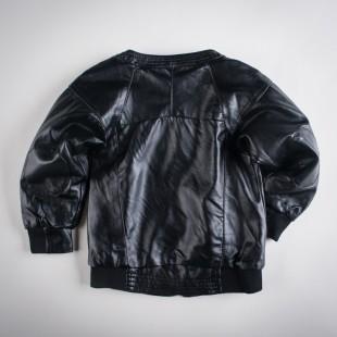 Фото: Куртка кожаная с латками на локтях (артикул O 10105-black) - изображение 4