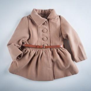 Фото: Пальто с завышенной талией и большими пуговицами (артикул O 10103-brown) - изображение 3