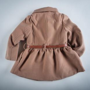 Фото: Пальто с завышенной талией и большими пуговицами (артикул O 10103-brown) - изображение 4
