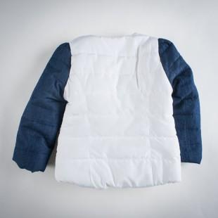 Фото: Куртка с джинсовыми рукавами (артикул O 10102-white) - изображение 4