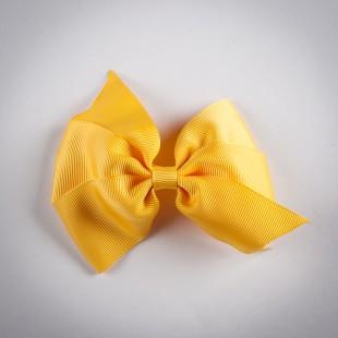 Заколка с большим жёлтым бантом