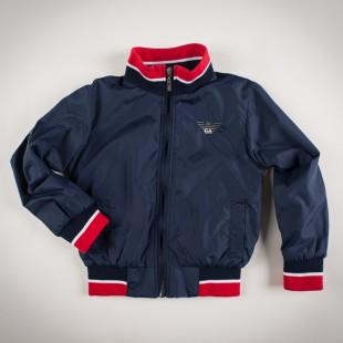 Фото: Куртка на молнии с манжетами (артикул O 10123-deep blue) - изображение 3