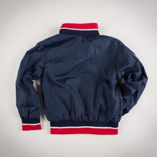 Фото: Куртка на молнии с манжетами (артикул O 10123-deep blue) - изображение 4