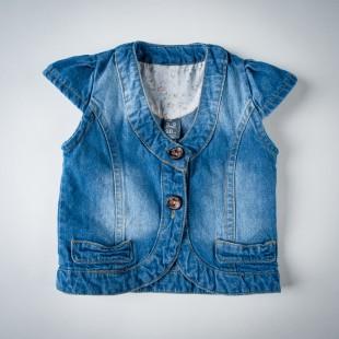 Фото: Жилет джинсовый на девочку (артикул Z 30050-jeans) - изображение 3