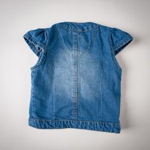 Фото: Жилет джинсовый на девочку (артикул Z 30050-jeans) - изображение 4
