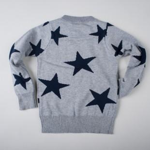 Фото: Свитер серого цвета со звездами детям (артикул Gp 20010-grey) - изображение 4