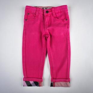 Фото: Джинсы укороченные с подворотами в клетку (артикул B 60004-pink) - изображение 3