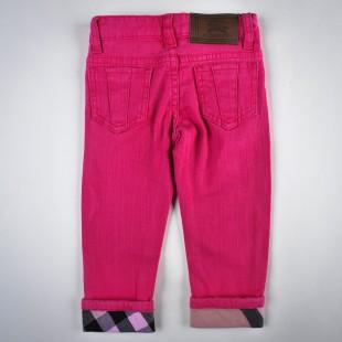 Фото: Джинсы укороченные с подворотами в клетку (артикул B 60004-pink) - изображение 4