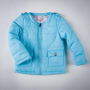 Фото: Синтепоновая курточка голубого цвета (артикул O 10074-blue) - изображение 3