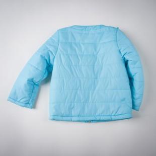 Фото: Синтепоновая курточка голубого цвета (артикул O 10074-blue) - изображение 4