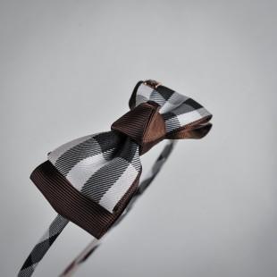 Обруч с коричневым бантом
