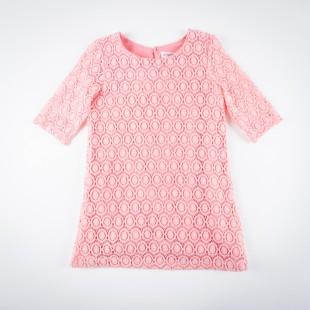 Фото: Платье с ажурной вязкой (артикул O 50193-apricot) - изображение 3