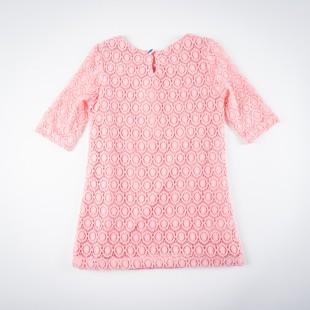 Фото: Платье с ажурной вязкой (артикул O 50193-apricot) - изображение 4