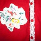 Фото: Кофточка с аппликацией цветка (артикул O 30002-red) - изображение 5