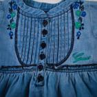 Фото: Платье-туника с вышивкой цветочков (артикул Gs 30020-jeans) - изображение 5