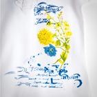 Фото: Футболка с принтом цветка и рюшей (артикул RL 40005-white) - изображение 6