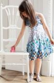 Фото: Платье с рисунками цветов (артикул O 50127-blue) - изображение 6