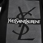 Фото: Yves Saint Laurent*. Кофточка с принтом бренда (артикул O 30055-black) - изображение 5