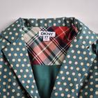 Фото: Стильный пиджак с цветными вставками (артикул O 10052-green) - изображение 5