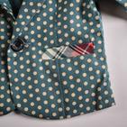Фото: Стильный пиджак с цветными вставками (артикул O 10052-green) - изображение 6