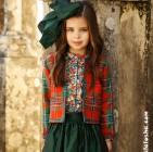 Фото: Стильный пиджак с цветными вставками (артикул O 10052-green) - изображение 8