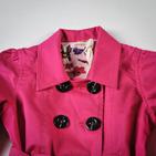 Фото: Красивый розовый плащ для девочки (артикул O 10064-pink) - изображение 5