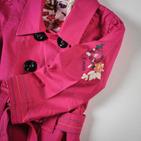 Фото: Красивый розовый плащ для девочки (артикул O 10064-pink) - изображение 6