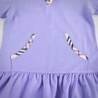 """Фото: Платье с капюшоном и карманом """"кенгуру""""  (артикул B 50012-violet) - изображение 5"""