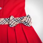 Фото: Платье с классическим кантом и бантом (артикул B 50007-red) - изображение 5