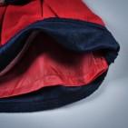 Фото: Теплое платье с цветами на поясе (артикул O 50144-red) - изображение 6