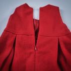 Фото: Теплое платье с цветами на поясе (артикул O 50144-red) - изображение 7