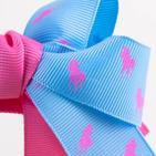 Фото: Обруч с большим бантиком - light blue (артикул A 10008- pink- light blue) - изображение 5