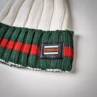 Фото: Набор шапка и шарф молочного цвета (артикул A 20057-white) - изображение 5