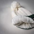 Фото: Набор шапка и шарф молочного цвета (артикул A 20057-white) - изображение 7