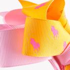 Фото: Обруч с большим бантиком (light pink- yellow ) (артикул A 10008- light pink-yellow ) - изображение 5