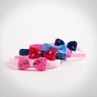 Фото: Обруч с бантиком - pink- light blue  (артикул A 10009- pink- light blue ) - изображение 5