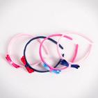 Фото: Обруч с бантиком - pink- light blue  (артикул A 10009- pink- light blue ) - изображение 6