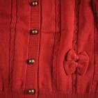Фото: Кофта вязаная на пуговицах (артикул O 20063-red) - изображение 5